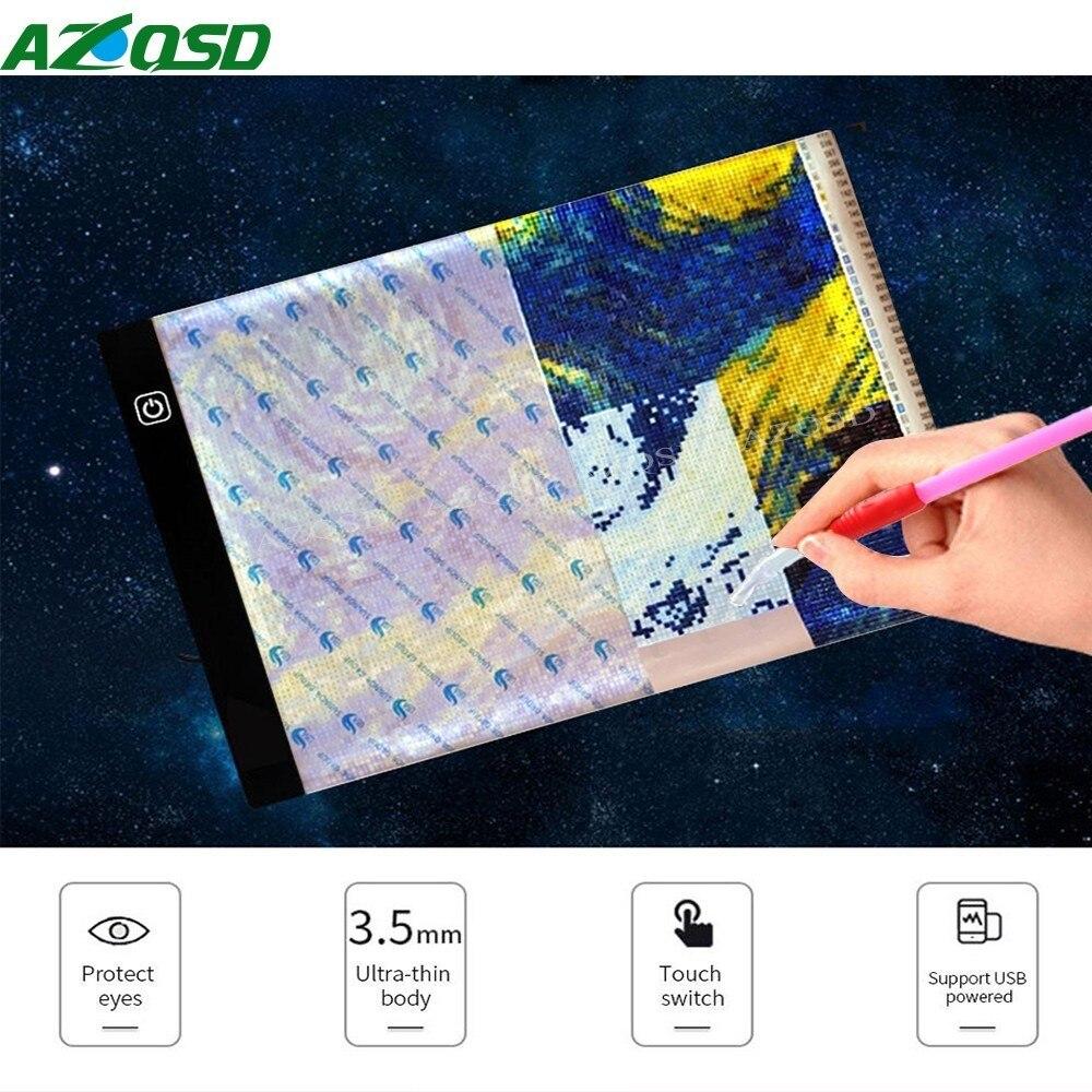 AZQSD Digitale Tablet A4 LED Künstler Dünne Art Schablone Zeichnung ...