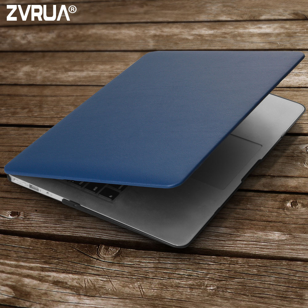 цена на ZVRUA Business PU Leather Laptop Cases for MAC APPLE MacBook Air 13 inch + Transparent Keyboard Cover