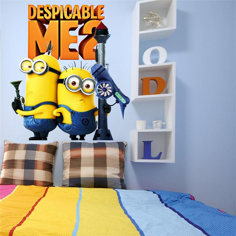 Minions Movie 3d Wall Stickers For Kids Room Home Decor Diy Pvc Cartoon Decals Children Gift Mural Arts Posters Wallpaper In From