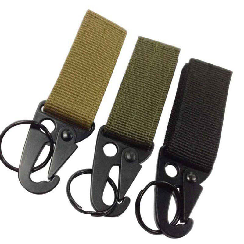 Military Outdoor Bag Hooks Army Black Khaki Carabiner Kit Gear Survival Closure Olecranon Nylon Backpack Hook Hanger