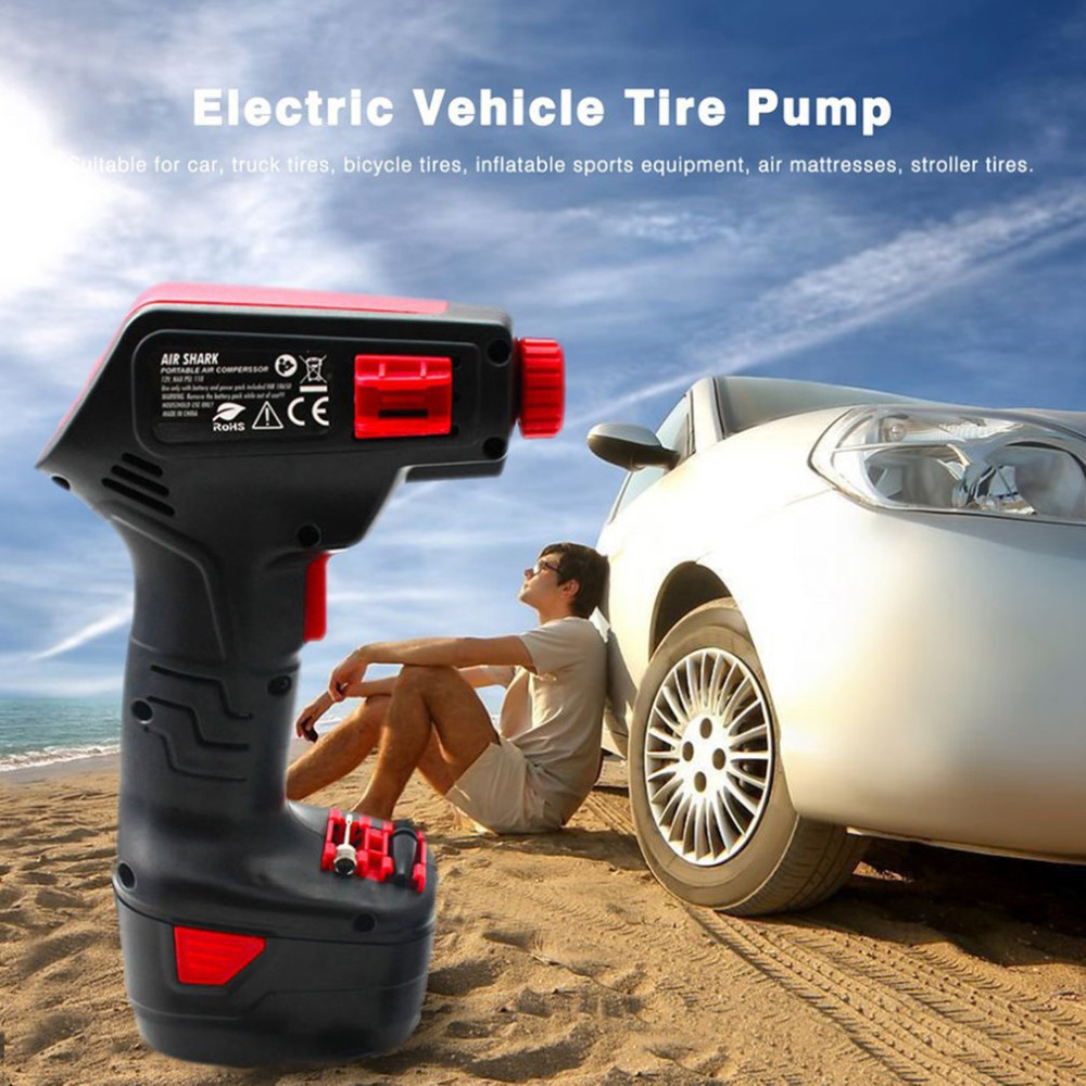 Portable Rechargeable Handheld Electric Bike Vehicle Car Tire Inflatable Pump Wireless Air Pump Emergency Inflator