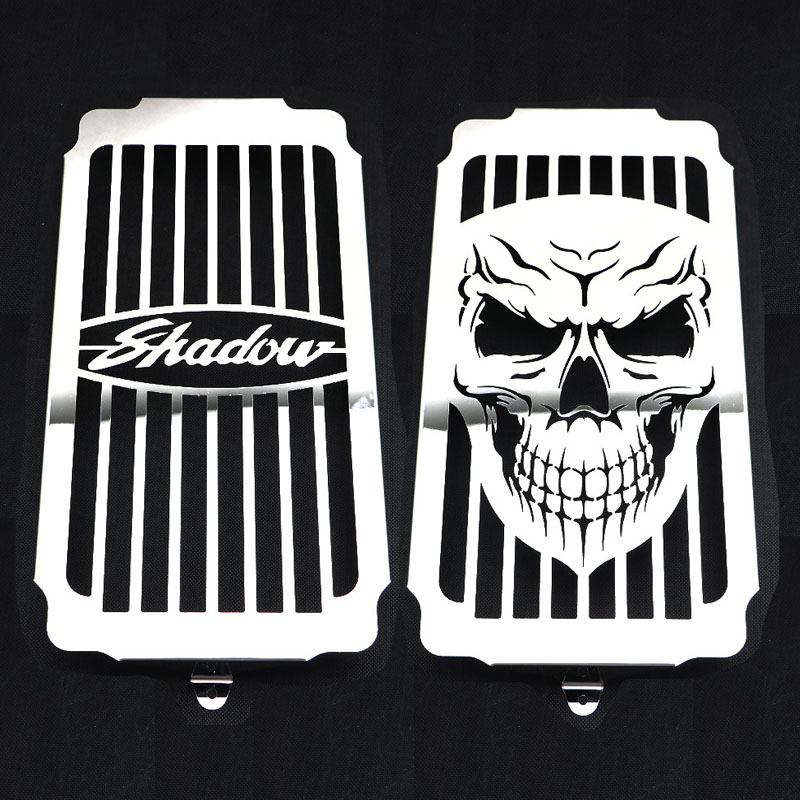 Water Coolant Engine Radiator Grill Grille Tank Cooler Cover For Honda VT1100 VT 1100 Shadow Spirit