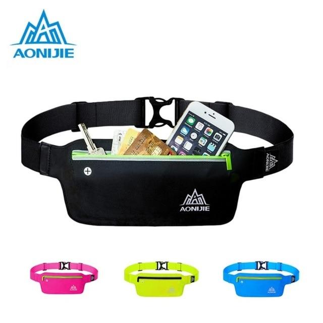 AONIJIE Runnning Waist Bag Men Women Sport Waist Pack Jogging Gym Fitness Running Belt Bag Phone Holder Sport Accessories 1