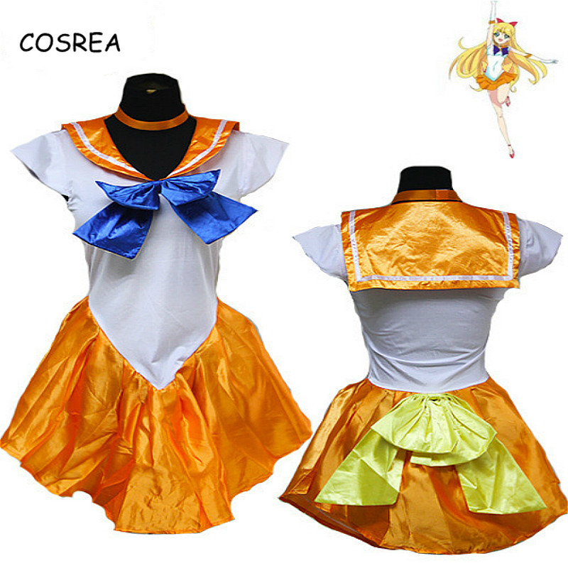 COSREA Anime Pretty Soldier Sailor Moon Cosplay Costume Set Princess Halloween For Kids Adult Sailor Moon Costumes Cosplay Dress