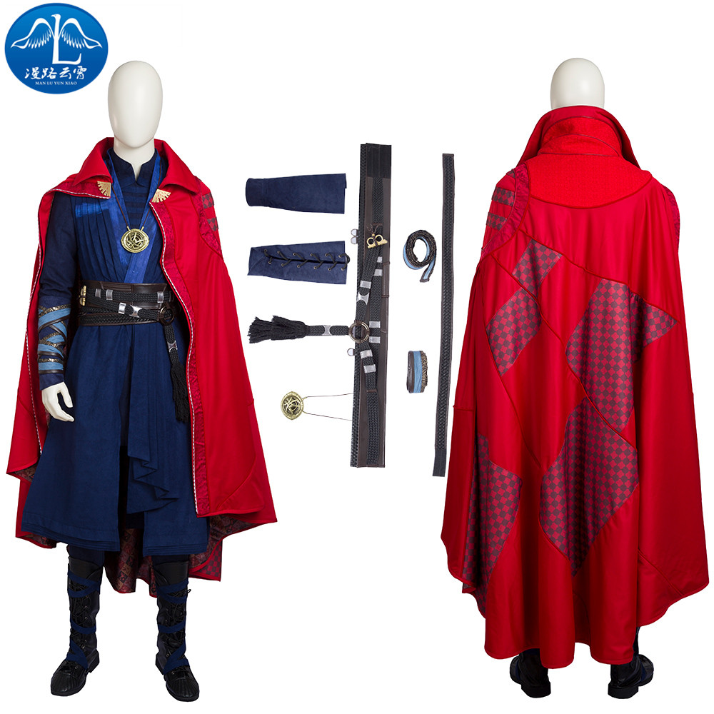 ManLuYunXiao Marvel Movie Doctor Strange Cosplay Costume Men Stephen Steve Vincent Strange Costume Superhero Costume Custom Made полка дл обуви мастер лана 3п пол 3п орех итальнский мст пол 3п ои 16