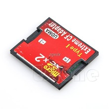 2TB TF SDHC 2 Port Slot To Type I 1 Compact Flash Card CF Reader Adapter JUL09 Drop ship(China)