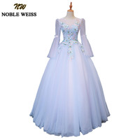 NOBLE WEISS Ball Gown Quinceanera Dresses With Long Sleeves Vestidos De 15 Anos Soft Tulle Lace Prom Dress For Girls Plus Size