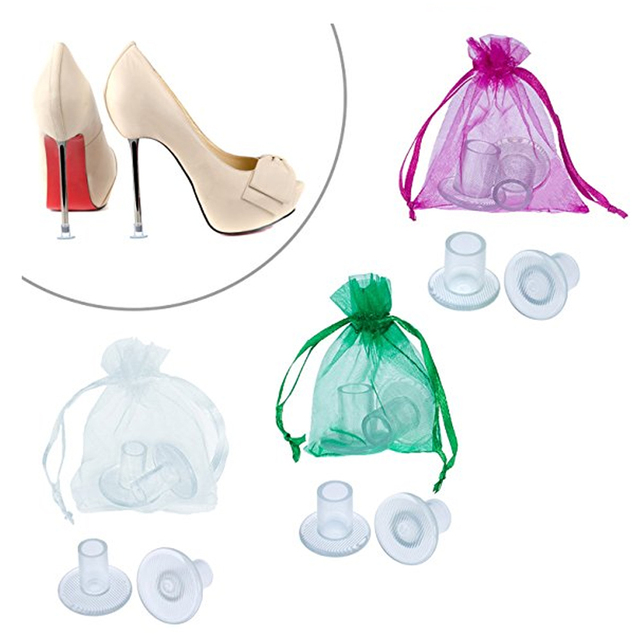 100 cặp/lô Cao Thợ Đóng Gót Giày Latin Stiletto Giày Gót Covers Cap Gót Stoppers Lớp Phủ Chống Trượt Bảo Vệ Gót Chân cho Bridal Wedding Party