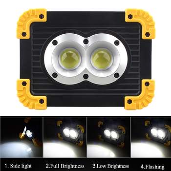 4 mode emergency Rechargeable 20W COB Work Light Super Bright Floodlight Outdoor Camping Battery not included