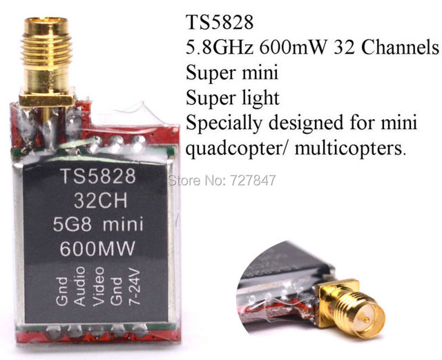 NEW TS5828 5.8GHz 600mW 32 Channels Mini Wireless A/V Transmitting (TX) TS5828 for 5.8g receiver for DJI gopro FPV Quadcopter