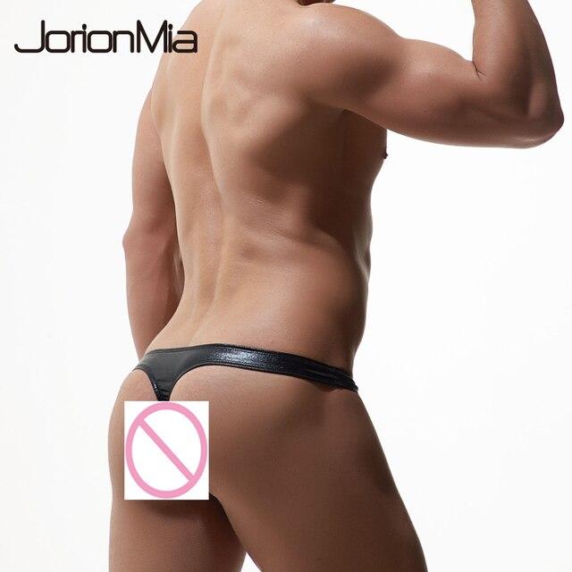 95f7a7e0a مثلي الجنس الرجال الملابس الداخلية جلد عباءة رجالي ملخصات بيكيني ثونغ  G-سلسلة مثير الرجال