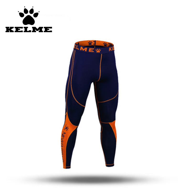 kelme homme fitness leggings de football pantalons sport leggings mens de couleur collants de compression pantalon - Collants Colors