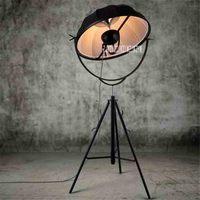 Ykx109 estilo industrial do vintage nordic arte piso lâmpada sala de estar quarto minimalista criativo tripé lâmpada de assoalho 110-220 v 65 cm