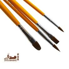 Paint-Brush-Set Gouache-Painting-Pen Watercolor Wooden-Handle Art-Supplies Drawing Horse-Hair