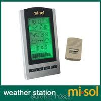 10 единиц беспроводная погодная станция с Открытый датчик температуры и влажности ЖК-дисплей, барометр