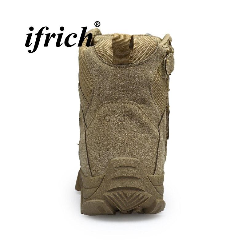 Militar Exército Homens Para Botas Mens Tendência Do Nova Táticas Top De Quality Beige Com Tamanho Moda Sapatos khaki Alta Zíper Grande fPBqW