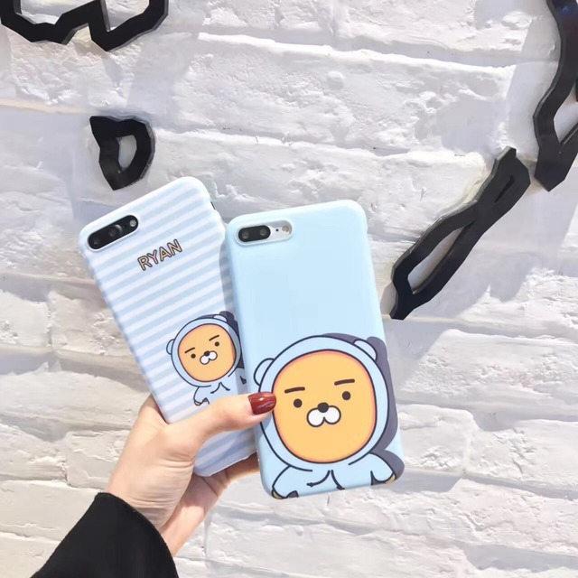 cheaper ad416 013a7 US $3.99 |korea Super Cute Kakao Friends Ryan Stripe Pattern High Quality  IMD TPU Case Cover For Iphone6 6S 7 7S 8 6Plus 7Plus 8Plus-in Fitted Cases  ...