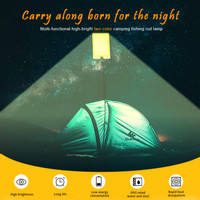 led work light rechargeable Camping tent portable spotlight cob High power fishing lamp Can Remote control change colour