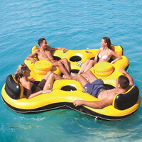 Swimming pool inflatable boat floating adult swimming floating row summer rest water toys and water pumps