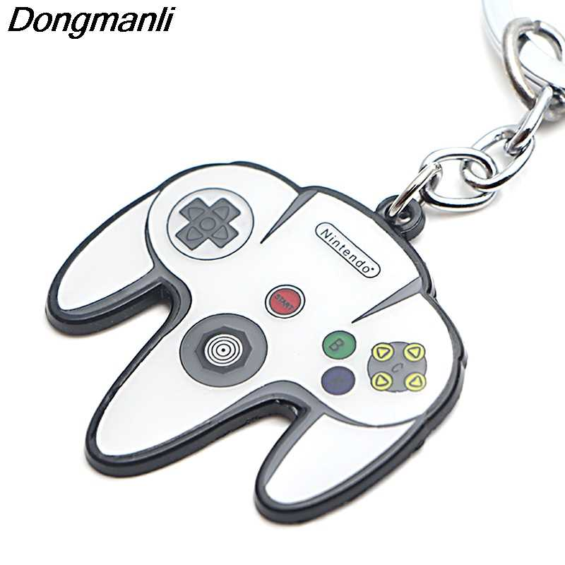 P3794 Dongmanli Gamepad Chave Titular Bonito Esmalte Pingente De Metal Chaveiro Para Chave Do Carro Anéis Presentes Do Jogador Do Jogo