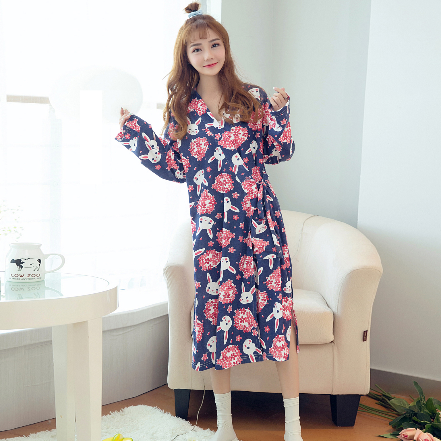 2PCS Sexy Thick Warm Flannel Robes Sets for Women 2018 Winter Coral Velvet Lingerie Night Dress Bathrobe Two Piece Set Nightgown 352