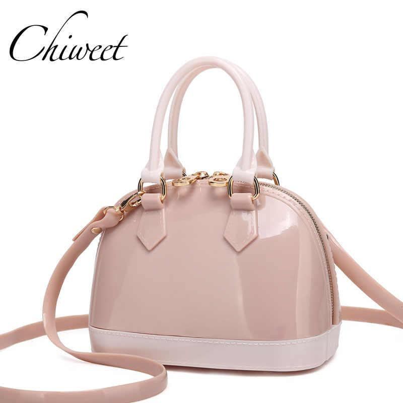 c9720cac54f2 Женская прозрачная желе сумка Лолита маленькая сумка в виде ракушки для  пляжа сумки на плечо бренд