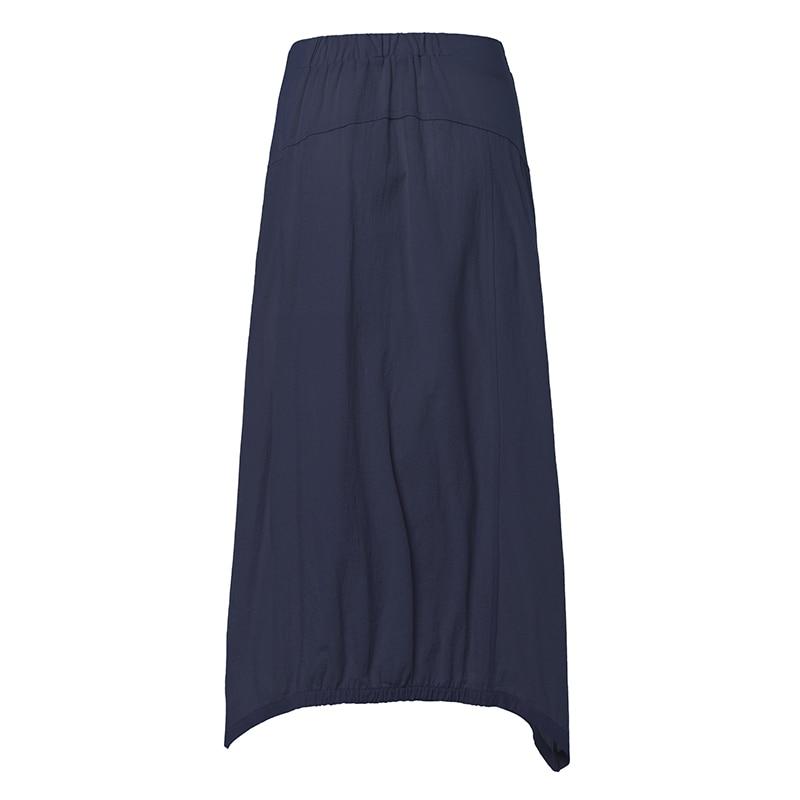 Celmia Vintage Women Maxi Skirts 19 Summer Casual Loose High Waist Asymmetrical Linen Skirt Plus Size Long Pleated Beach Skirt 11
