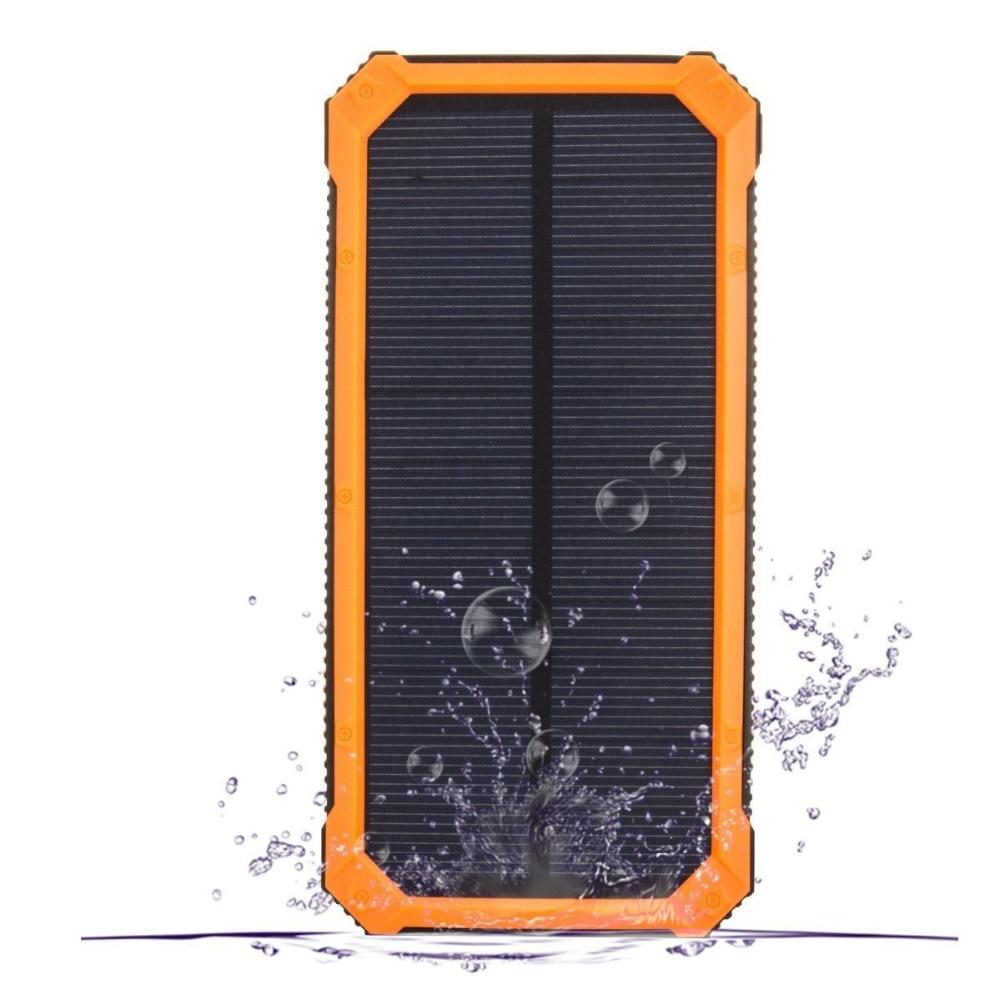 Chargeur solaire de trousseau de batterie externe 15000 mAh de batterie externe de PowerGreen avec le panneau solaire