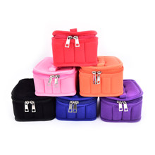 5ml 10ml 15ml 16 Bottles Essential Oil Carrying Case Nail Polish Makeup Cosmetic Bag Storage Traveling