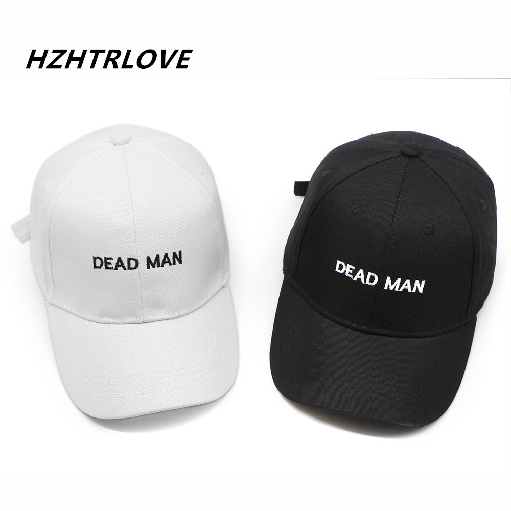 High Quality Embroidery Letter Dead Man Cap Adjustable Hip Hop Snapback Baseball Caps Men Women Fitted Trucker Dad Hat Bone newly design i came to break hearts embroidery letter boy hiphop hat adjustable baseball cap 160513