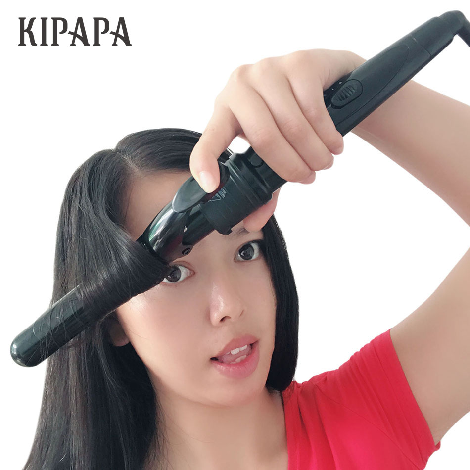 KIPAPA New Real Electric Professional Ceramic Hair Curler 100-240V Curling Iron Roller Curls Wand Waver Fashion Styling Tools