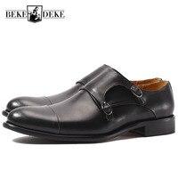 Итальянские модные мужские ботинки из натуральной кожи, мужские ботинки с декоративной застежкой, Офисная Рабочая формальная обувь, мужски