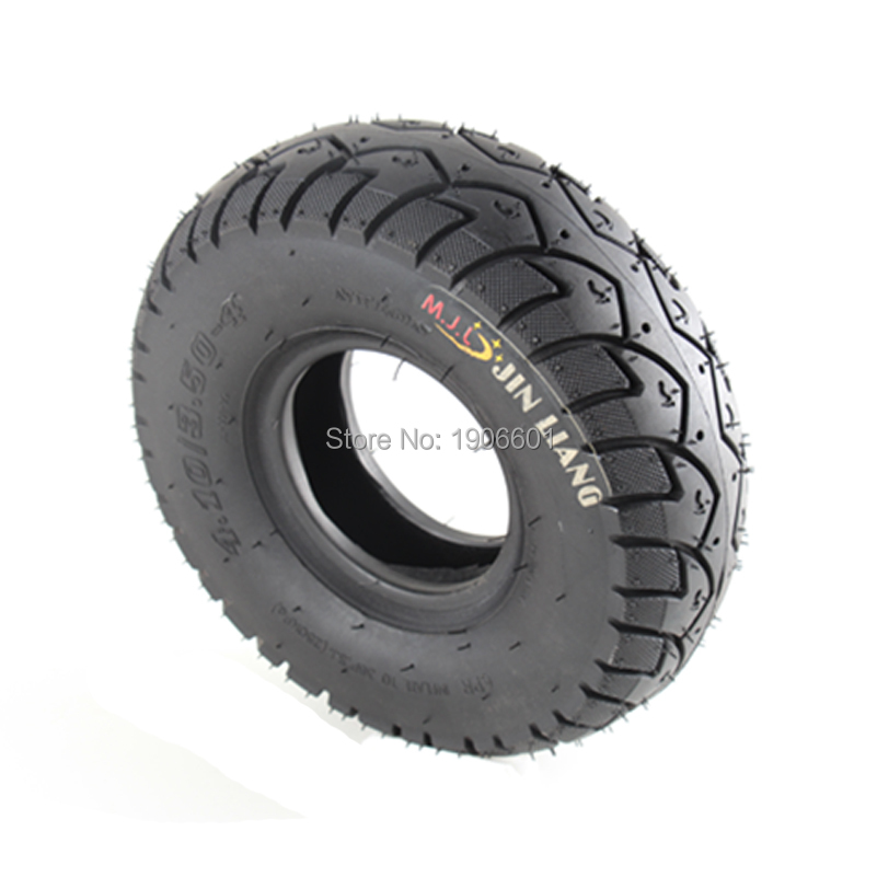 "BRAND NEW HALF OF 4"" Tire TYRE 10x4.10/3.50-4 ON Scooters ATV BIKE"