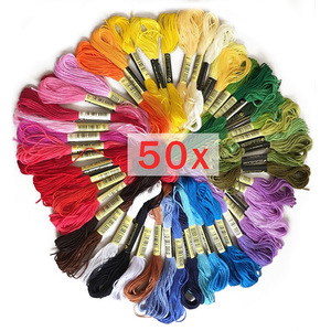 50pcs Anchor Similar dmc embroidery floss Cross Stitch Cotton Embroidery Thread Floss Sewing Skeins Craft(China)