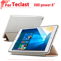 "Newset Ultra Slim 8.0"" case For teclast x80 power Flip pu Leather case cover For teclast x80 power 8""tablet pc + free 2gifts"