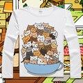 Nueva Lindo Atsume Neko Cosplay manga Larga T-shirt Cosplay Anime patio de algodón remata camisetas Del Gato T Shirt Hombres Mujeres verano