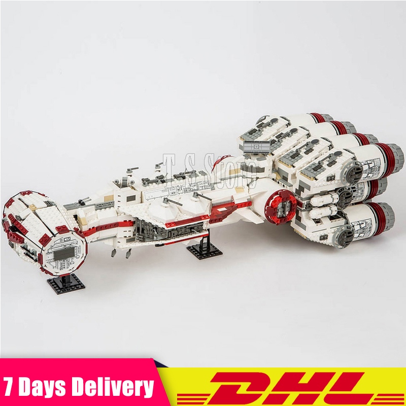 DHL LEPIN 05046 Star 1748Pcs Series Wars The Tantive IV Rebel Blockade Runner Set Building Blcoks Bricks DIY Toys Clone 10019 lepin 05046 1748pcs star war series the tantive iv rebel blockade runner set building blcoks bricks toys for children gift 10019