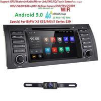 7Android 9.0 Quad Core GPS Navigation Car DVD Player for BMW 5 Series E39 /X5 E53/M5/7 Series E38 Radio/USB/4G/WIFI/Free Camera