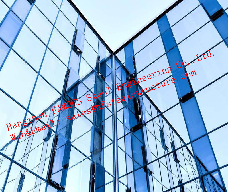 Innovative Design Double Skin Glass Curtain Wall Fabrication And Engineering Intelligent Respiratory