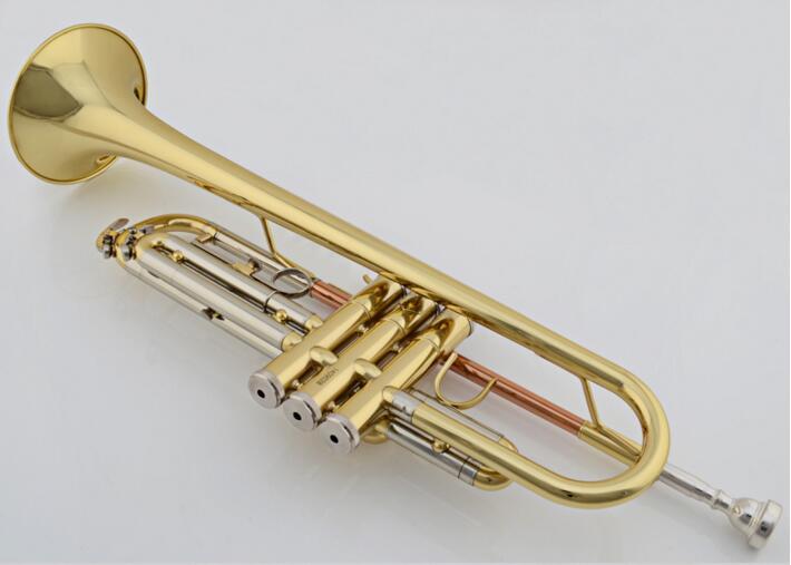 Instruments de musique trompette Bb B plat Standard trompettes en laiton corps laque surface avec étui en mousse