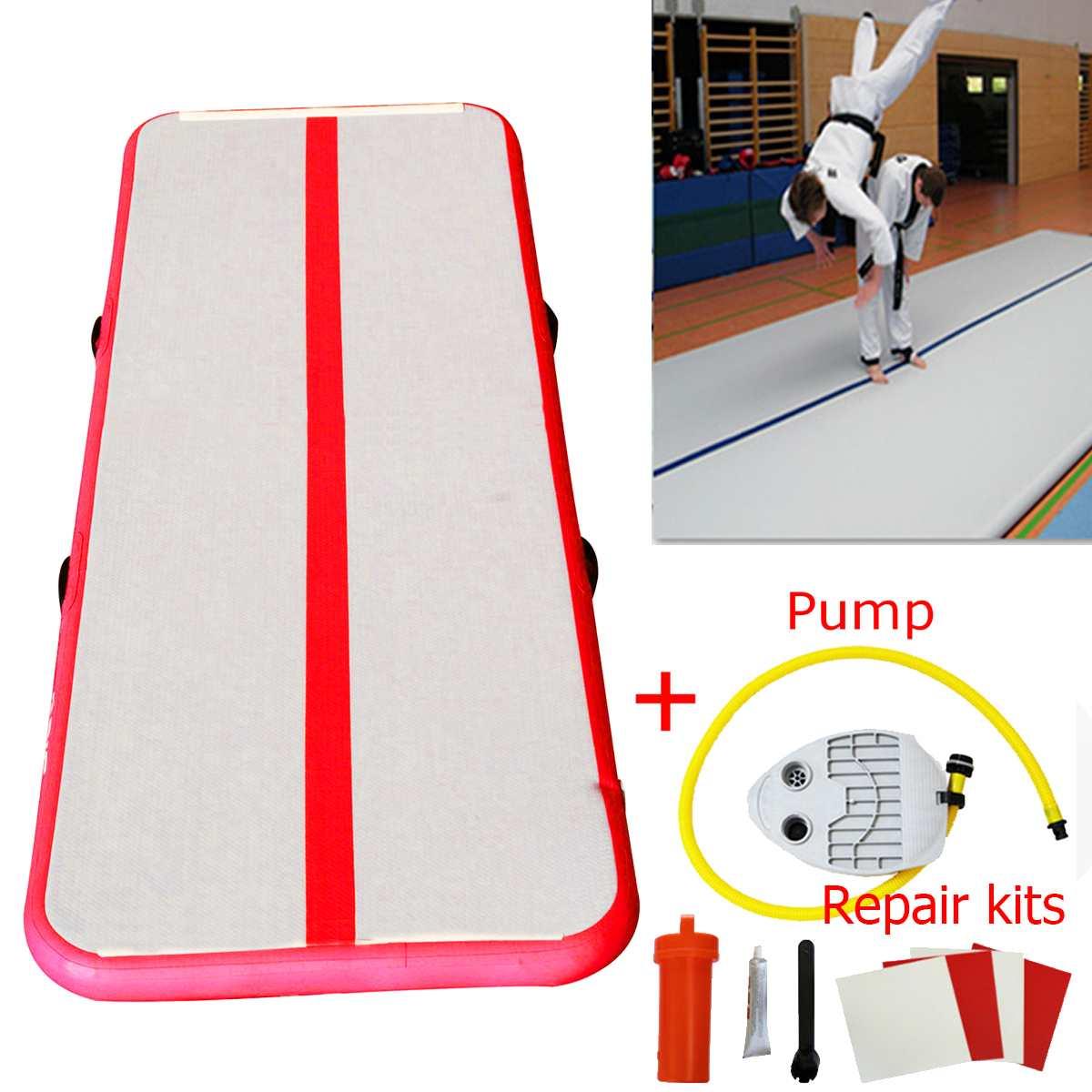 1x3 m gymnastique Air Track olympiques Gym vêtements de yoga résistant Gym matelas eau yoga matelas pour maison/plage/eau yoga 110-220 V