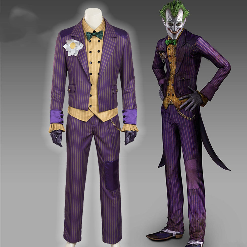 batman costume adult cosplay Joker costume Batman custom made Batman Arkham Knight Joker cosplay costume men Halloween costumes