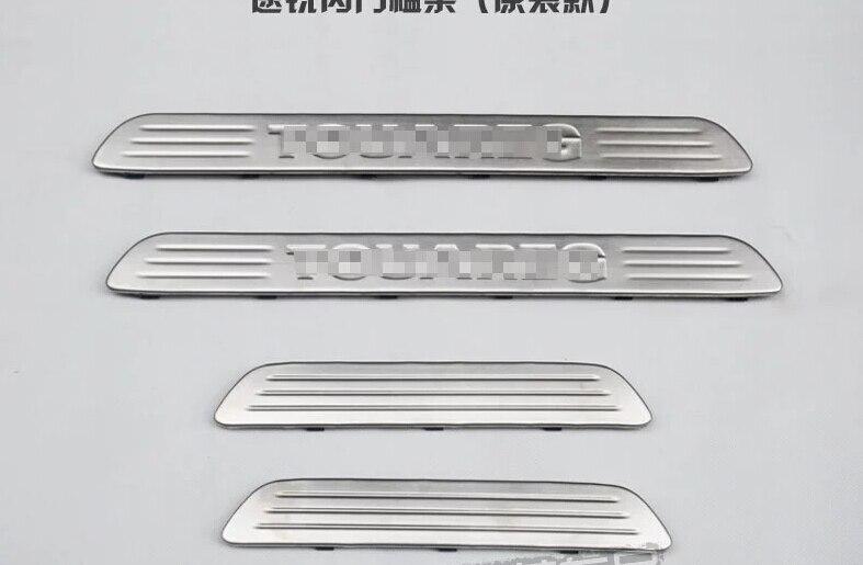 ФОТО For Volkswagen Touareg 2011-2013 Inner Door Sill Threshold Scuff Plate 4 pcs / set
