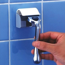 New blue Delicate Shaver Holder Wall Mounted Plastic Bathroom Razor  Caps Rack 70