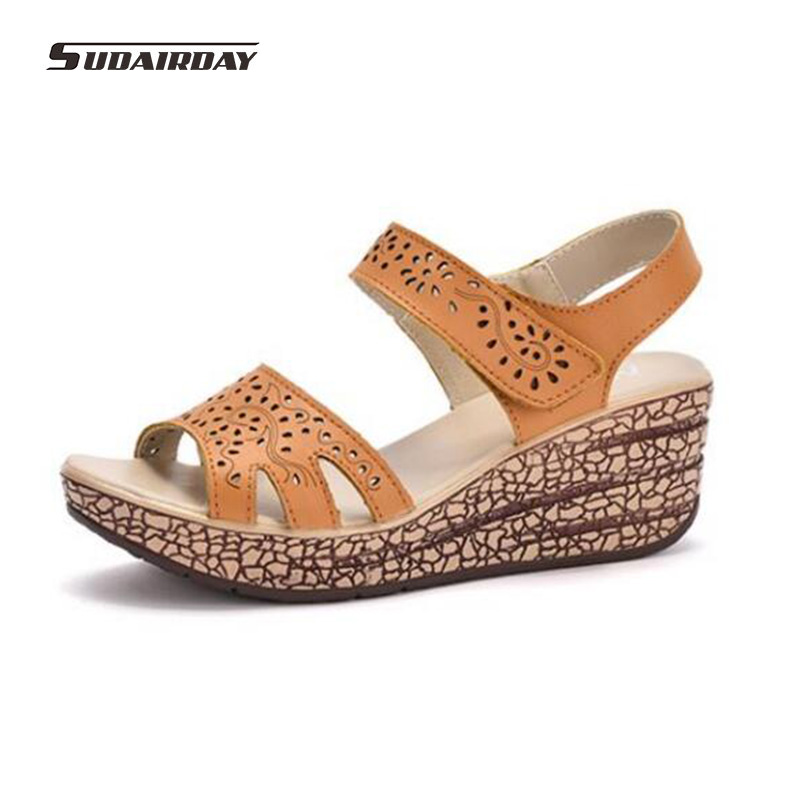 woman shoes 2017 summer Fretwork Carving Swing Wedges Platform High Heel Women Sandals Female gladiator sandals women Shoes phyanic 2017 gladiator sandals gold silver shoes woman summer platform wedges glitters creepers casual women shoes phy3323