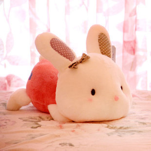 Plush toy rabbit lie prone posture Mimi rabbit doll cute doll birthday gift toys for children