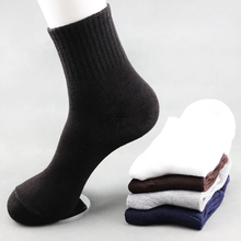 New 10 Pairs lot Autumn Winter Men Cotton Socks Breathable FashionSolid Color Tube Warm Socks 2019