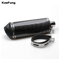 Motorcycle parts Exhaust Pit Bike 38mm Exhaust Muffler with move blow down silencer /Mute Carbon fiber dirt bike detuner use