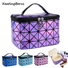 Fashion Women Make Up Bag Multifunctional Cosmetic Professional MakeUp Case Suitcase Toiletry Pouch Beauty