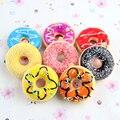 12 unids Nuevos Juguetes de Los Niños Colorido Rosquilla Blandita Squishies Pan Donuts Decoración de la Correa de Regalos de Juguetes Al Por Mayor Envío Libre PS-098